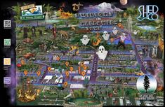 Wix Pro Gallery Halloween Design, Halloween Town, Learning Maps, Maps Video, Resume Design, Graphic Design, Seasons, Gallery, Illustration