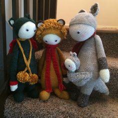 DIRK, LONI, KITA made by Diane M. / crochet pattern by lalylala