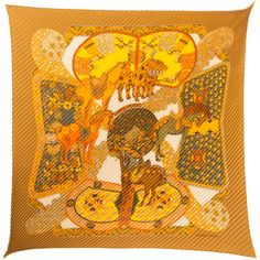 Hermes Art Des Steppes By Annie Faivre Silk Scarf ($350) ❤ liked on Polyvore featuring accessories, scarves, nocolor, colorful scarves, print scarves, silk shawl, hermes scarves and patterned scarves