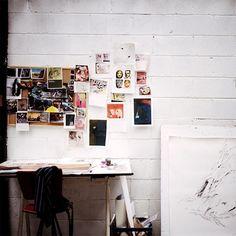Inspiring studio space, via @sfgirlbybay / victoria smith