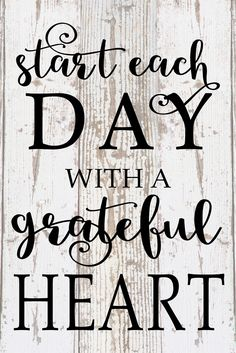 Start Each Day With A Grateful Heart Inspirational Wood Sign Canvas Wall Art Thanksgiving Christmas