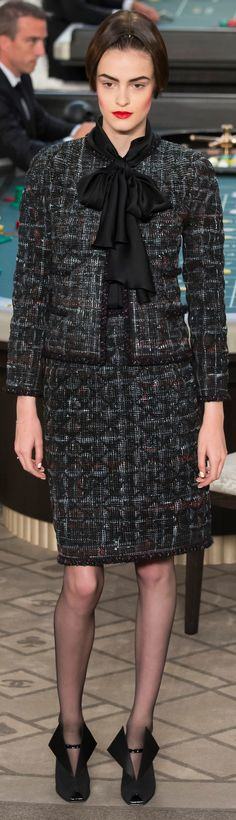 Chanel ~ Couture Black Tweed Suit Fall 2015