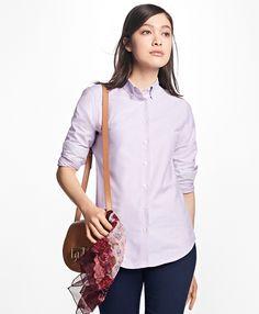 5597226662c Classic-Fit Supima® Cotton Oxford Stripe Forward-Point Shirt