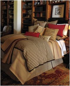 Neiman Marcus Equestrian bedding - Outrageously overpriced but easily recreated for a fraction of the cost.  Example:  NM coverlet $750.  Brown Houndstooth Bedding set from Overstock.com $90.