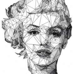 England-based artist Josh Bryan has a series of one-of-a-kind portrait drawings called Triangulations.