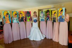 Custom Bridesmaid Paintings and Gifts by twiggyoriginals on Etsy, $130.00