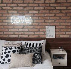 Aquele amor incondicional por parede de tijolinhos!