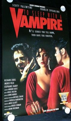 TO SLEEP WITH A VAMPIRE 1995 27x40 Video Poster FREE SHIP! #RogerCorman #BMovie