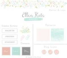 Watercolor Blog Kit by Sweet Little Muse on @creativemarket