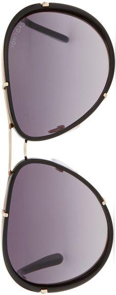 TOM FORD Cyrille Aviator Sunglasses, Rose Golden/Black
