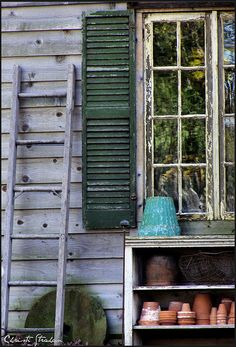 ~garden inspirations~potting shed~