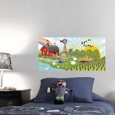 Mona Melisa Designs Farm Boy Hanging Wall Mural Skin Shade: Dark, Eye Color: Blue, Hair Color: Black