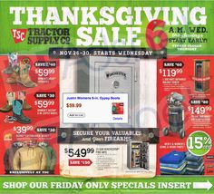 Tractor Supply #BlackFriday2014 ad posted!