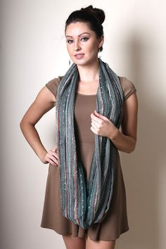 Anika Dali - Women's Festival Bliss Shimmer Infinity Loop Scarf (EMERALD), Fashion Scarves, Shoulder Wraps, Stocking Stuffer, Women's Gifts, For Her (by ANIKADALI)