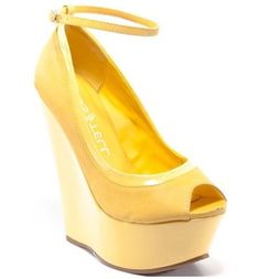 Sunshine filled goodness and a price that makes you smile! $29.99! Kiss and Tell Wedge
