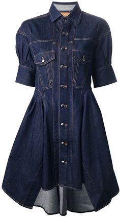 MCQ Alexander Mcqueen Denim Shirt Dress - Lyst