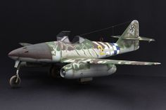 Me-262 A-1a (Trumpeter 1/32) Ww2 Aircraft, Military Aircraft, Camouflage, Me262, Perfect Model, Aircraft Design, Model Airplanes, Luftwaffe, Model Building