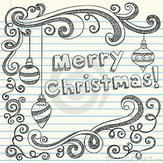 Merry Christmas Hand-Drawn Sketchy Doodles More