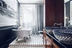 Sikora Wnetrza の オリジナルな 洗面所/風呂/トイレ