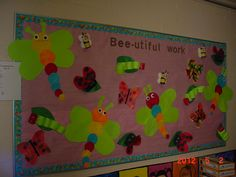 Preschoolers decorated the bulletin board with Insects and Bugs theme at CRK. Great job!