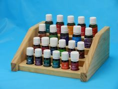 Small Pine Essential Oil Counter Holder Display Rack.
