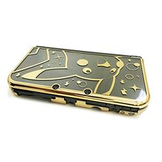 HORI Pikachu Premium Gold Protector for New Nintendo XL Officially Licensed by Nintendo & Pokemon Xbox 360, Playstation, Nintendo Ds, Nintendo Consoles, Nintendo Games, Wii U, Pokemon Online, New 3ds, Gaming Accessories