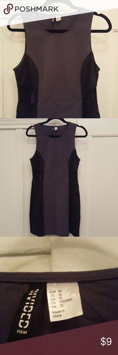 H&M Gray and Black Cutout Dress H&M Gray and Black Cutout Dress. Size 12. Never worn! H&M Dresses Mini