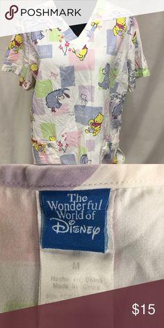 Walt Disney Winnie the Pooh scrub Adorable Winnie the Pooh scrub Walt Disney World Tops