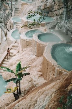 mexico travel We Found Cliffside Hot Spring Infinity Pools in Mexico amp; Were Sharing All Beautiful Places To Travel, Cool Places To Visit, Places To Go, Romantic Travel, Beautiful Beaches, Infinity Pools, Pamukkale, Vacation Places, Dream Vacations