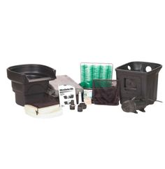 AquaScape MicroPond Kit - x The Aquascape MicroPond Kit includes everything you will need to build a pond except for the rock, plants and fish. Makes a pond by that contains 1000 gallons. MicroPond Kit - x IncludesSignature Seri Water Feature Kits, Pond Kits, Building A Pond, Diy Pond, Garden Waterfall, Tabletop Fountain, Ponds Backyard, Diy Kits, Outdoor Gardens
