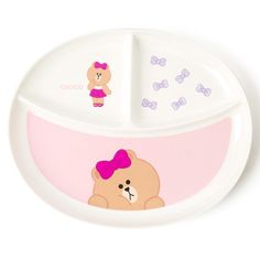 Line Friends Official Goods 1P Choco Melamine Divided Plate Dinnerware Dish  #LineFriends