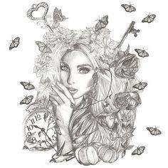 September 21th, autumn solstice illustration!!! Wellcome autumn and yes, the face is the beautiful @hoskelsa. ----------------------------------- 21 de septiwmbre, ilustracion del solsticio de otoño!!! Bienvenido otoño, la modelo es @hoskelsa.  #pencil #illustration #ilustracion #staedtler #autumn #autumnillustration #autumnsolstice #butterfly #butterflies #key #elsahosk #calabaza #pumpkin #instart #instartist #draw #drawing #drawoftheday #artcrowds #artistic_nation #dibujo #tattoo