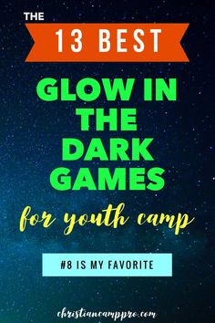 Are you looking for the best Glow In The Dark Youth Camp Games? Christian Camp Pro has put together a list of the 13 best glow in the dark games. Large Group Games, Youth Group Games, Youth Activities, Family Games, Summer Activities, Youth Group Events, Church Activities, Indoor Activities, Camping Games For Adults
