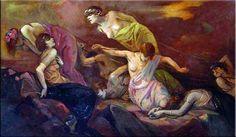 Les Danaïdes by Jan Frans (de) Boever (1872-1949).