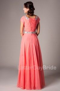 Modest Prom Dresses : Kelly. And here's the back!