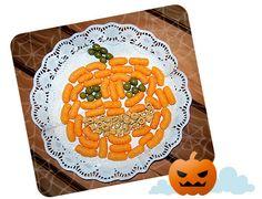 Una sonriente Calabaza irresistible para brujitas y vampiros (ajo-free!). Desaparecerá del plato como por arte de magia. ¡Feliz Halloween!