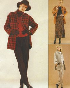 90s Sew News Womens Unlined Jacket Unlined Vest by CloesCloset