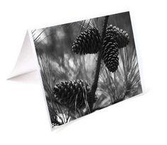 Black and White Christmas Card Set 8 Winter by HausofAriella, $20.00 #etsysns
