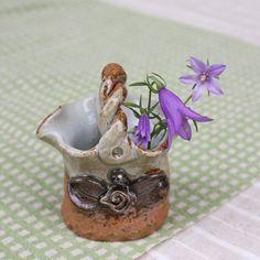 Minis basket Hanaire l Japanese instrument Mashiko ware selling music raku