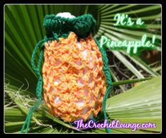 Free Crochet It's a Pineapple! Crochet Wrist Bag, Opera Bag, Yarn Tote Pattern