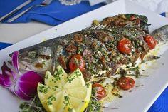 favorite fish dish: whole grilled bronzino