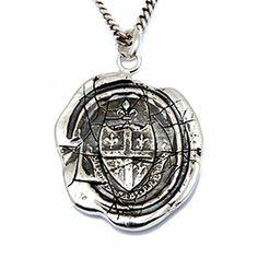Pyrrha Design Five Fleur de Lis Crest Necklace - Sterling silver.
