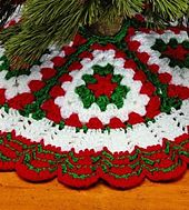 Ravelry: Christmas Crochet Tree Skirt pattern by Country Woman