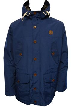 J1287 Mountain Parka Jacket by Fred Perry. Available from http://www.