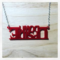 Stranger Things Inspired Upside Down Acrylic Necklace
