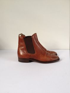 Leather Ankle Boots. Brown Ankle Boots. Brown Chelsea Boots. Brown Leather Ankle Boots. Women Ankle Boots. Chelsea Boots US 7.5 UK 5 EUR 38 by Tukvintage on Etsy