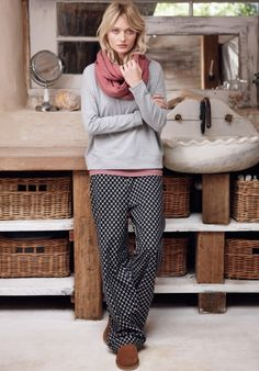 Gorgeous pyjamas from Hush- they're soft, comfortable and come in lovely patterns. AND they do long length bottoms to save the long-legged from flapping trouser hems... Love love love them.