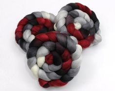 My absolute favorite colors together-crimson, black, grays, and white...