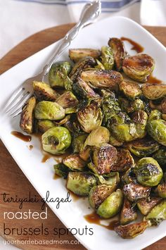 Teriyaki Glazed Roasted Brussels Sprouts - your homebased mom