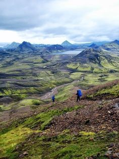 Laugavegur trail in southern Iceland.